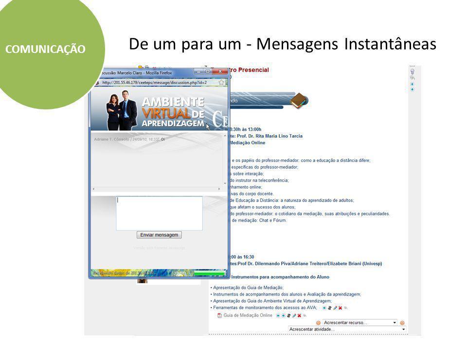 De um para um / de um para muitos - Mensagem de Email COMUNICAÇÃO