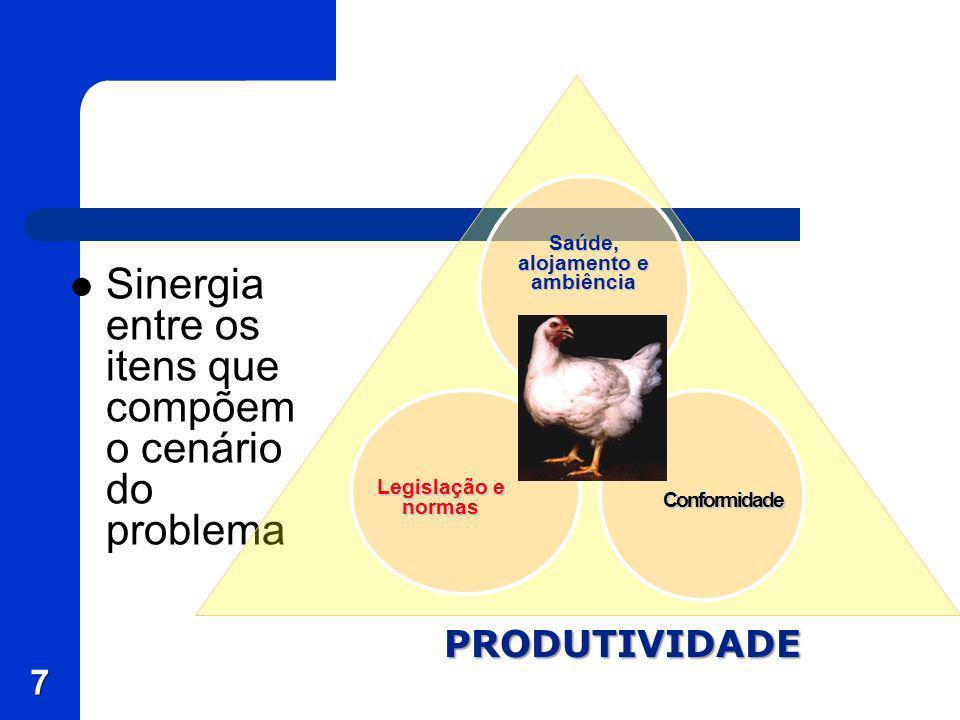 7 Sinergia entre os itens que compõem o cenário do problema PRODUTIVIDADE