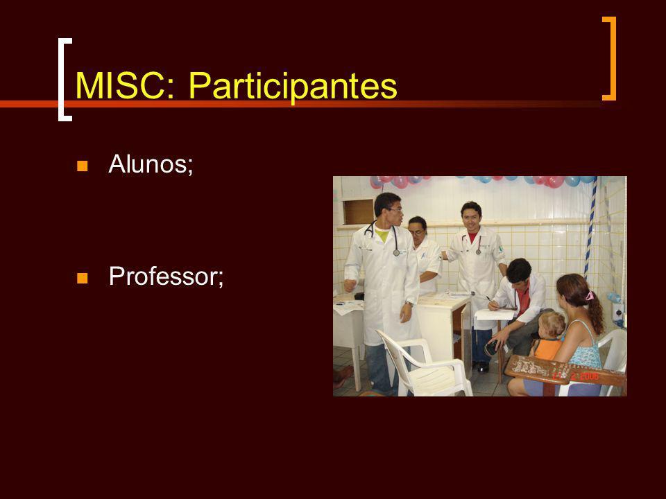 MISC: Participantes Alunos; Professor;