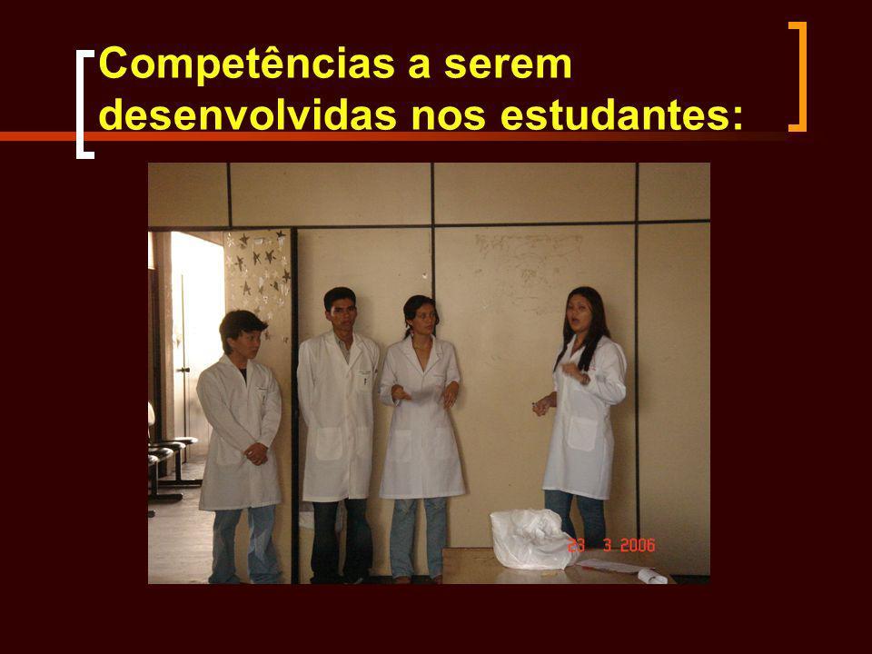 Competências a serem desenvolvidas nos estudantes: