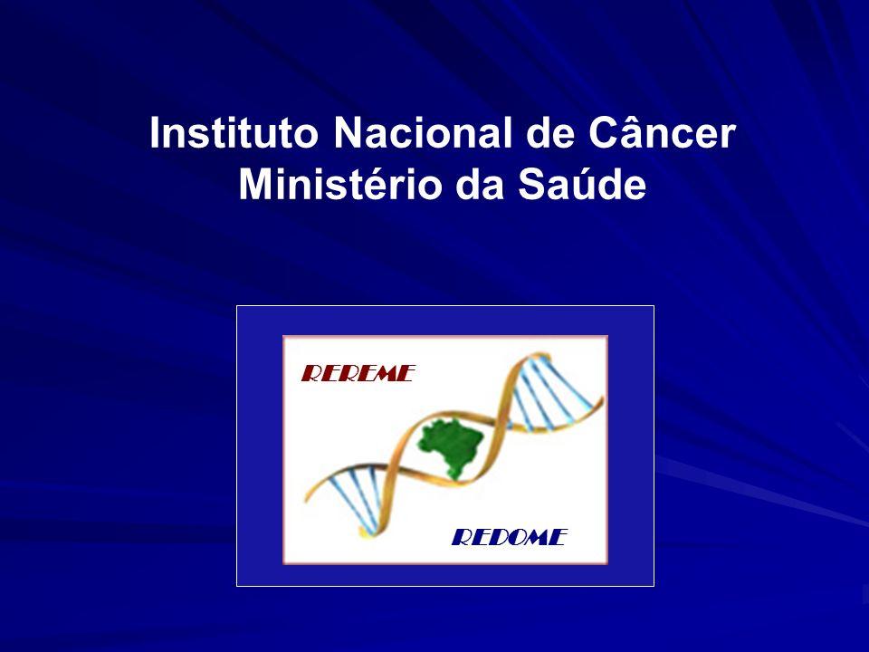 Instituto Nacional de Câncer Ministério da Saúde REREME REDOME