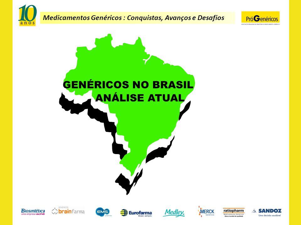 Medicamentos Genéricos : Conquistas, Avanços e Desafios Medicamentos mais receitados no Brasil.