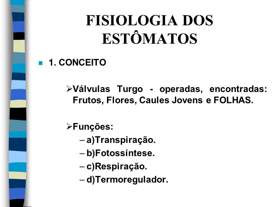 FISIOLOGIA DOS ESTÔMATOS n 1.