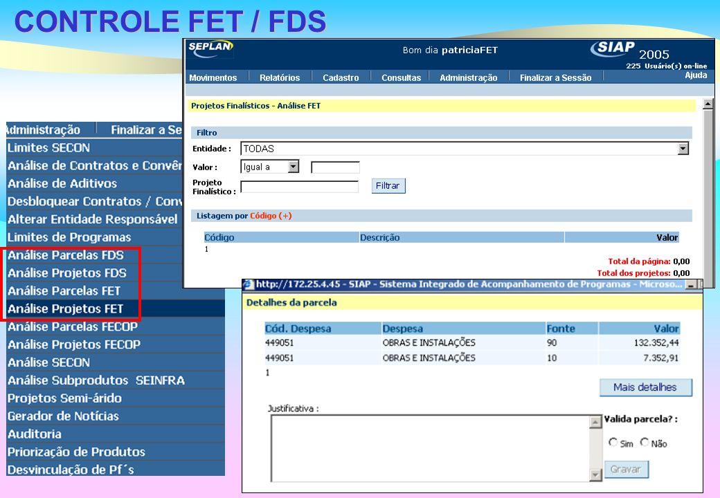 CONTROLE FET / FDS