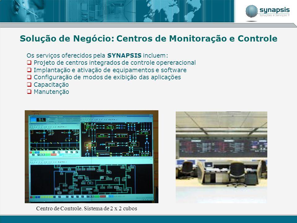 Os serviços oferecidos pela SYNAPSIS incluem: Projeto de centros integrados de controle opereracional Implantação e ativação de equipamentos e softwar
