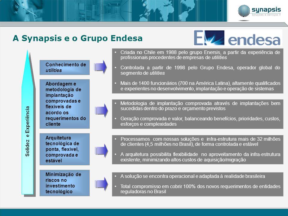 Conhecimento de utilities Criada no Chile em 1988 pelo grupo Enersis, a partir da experiência de profissionais procedentes de empresas de utilities Co