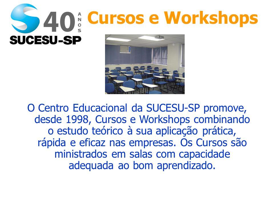 O Centro Educacional da SUCESU-SP promove, desde 1998, Cursos e Workshops combinando o estudo teórico à sua aplicação prática, rápida e eficaz nas empresas.
