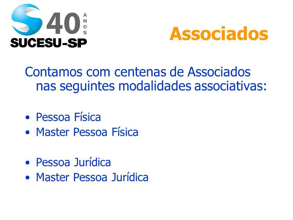 Associados Contamos com centenas de Associados nas seguintes modalidades associativas: Pessoa Física Master Pessoa Física Pessoa Jurídica Master Pessoa Jurídica