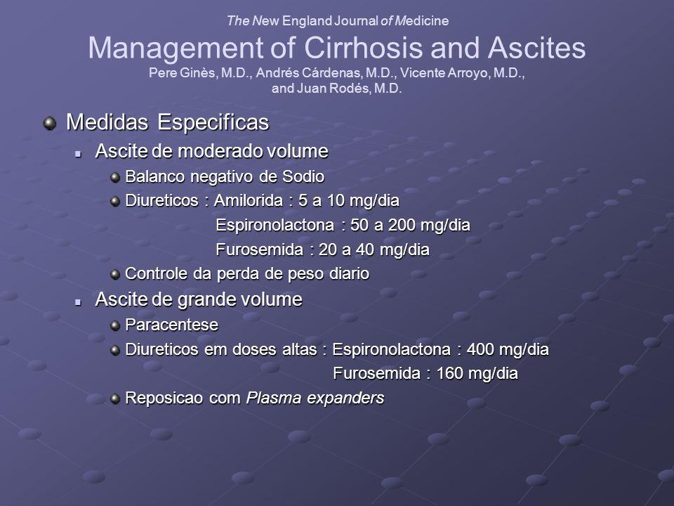The New England Journal of Medicine Management of Cirrhosis and Ascites Pere Ginès, M.D., Andrés Cárdenas, M.D., Vicente Arroyo, M.D., and Juan Rodés,