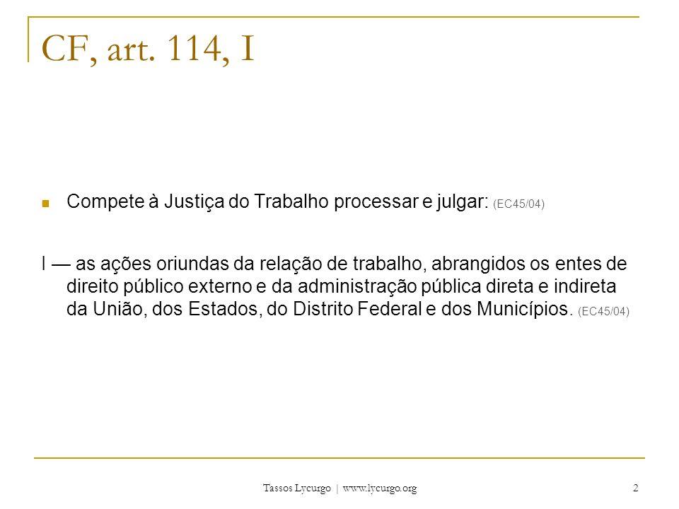 Tassos Lycurgo | www.lycurgo.org 3 CF, art.