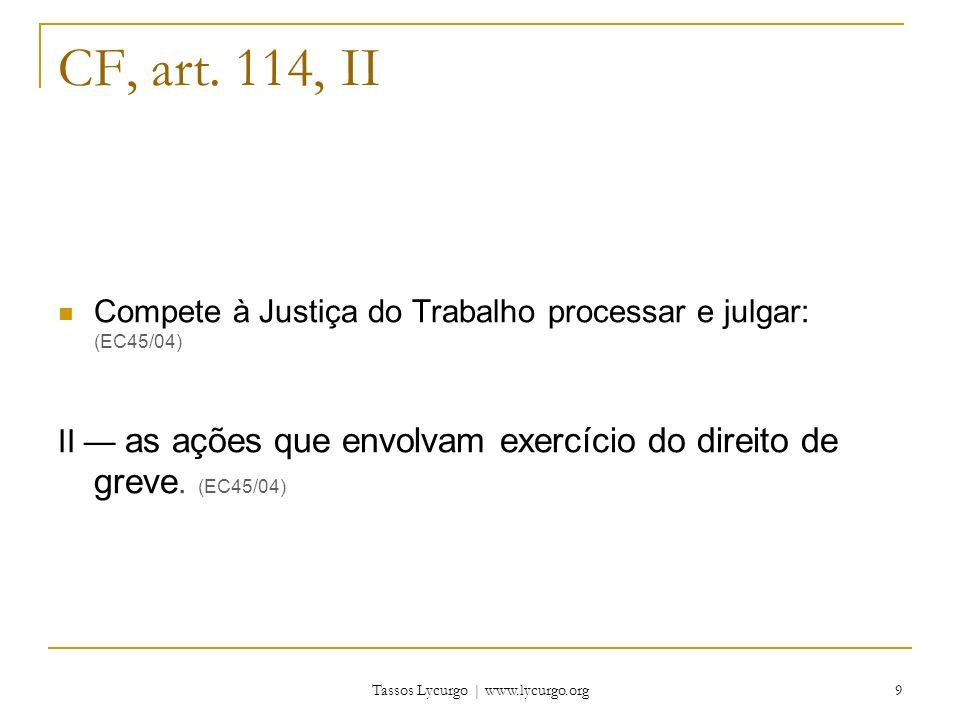 Tassos Lycurgo | www.lycurgo.org 10 CF, art.