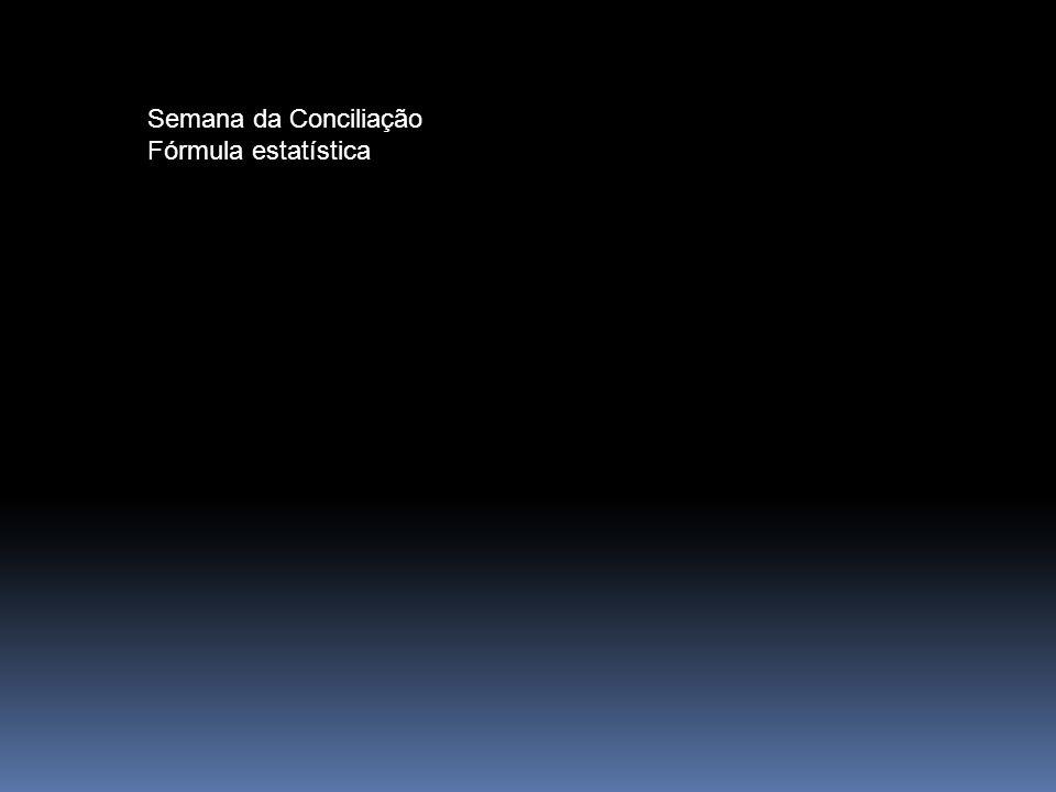 Semana da Conciliação Fórmula estatística
