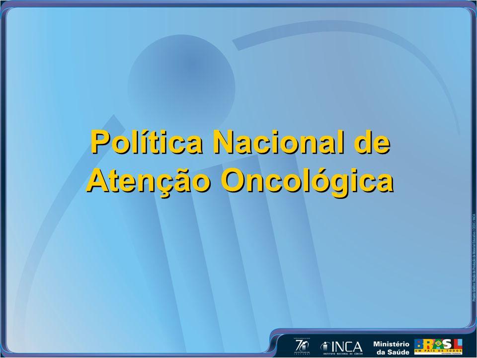 Política Nacional de Atenção Oncológica