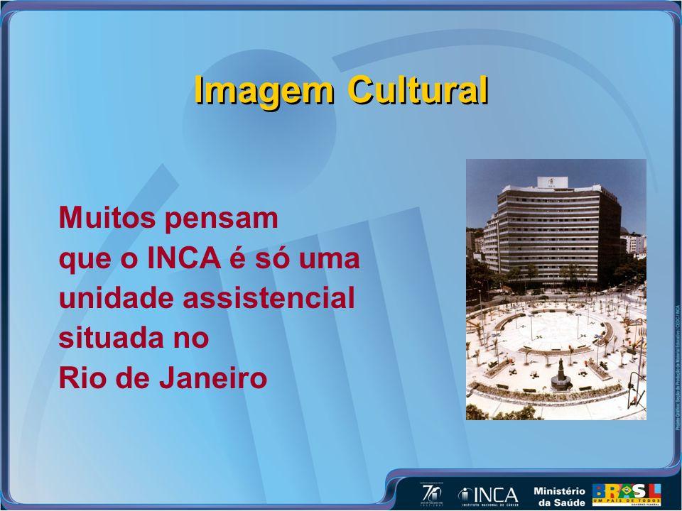 Imagem Cultural Muitos pensam que o INCA é só uma unidade assistencial situada no Rio de Janeiro