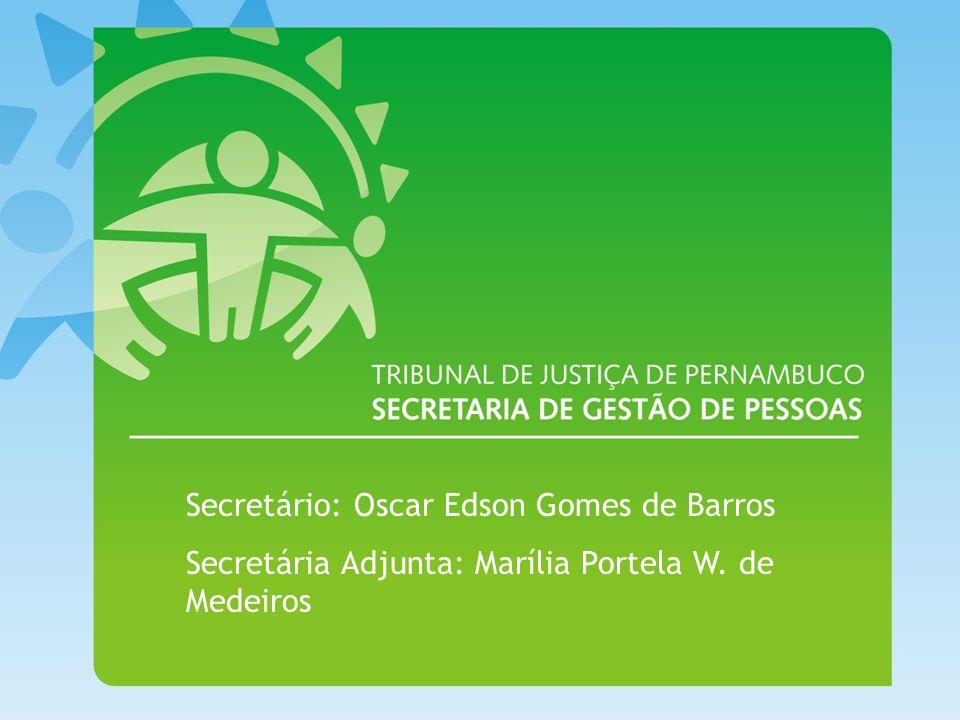 Secretário: Oscar Edson Gomes de Barros Secretária Adjunta: Marília Portela W. de Medeiros