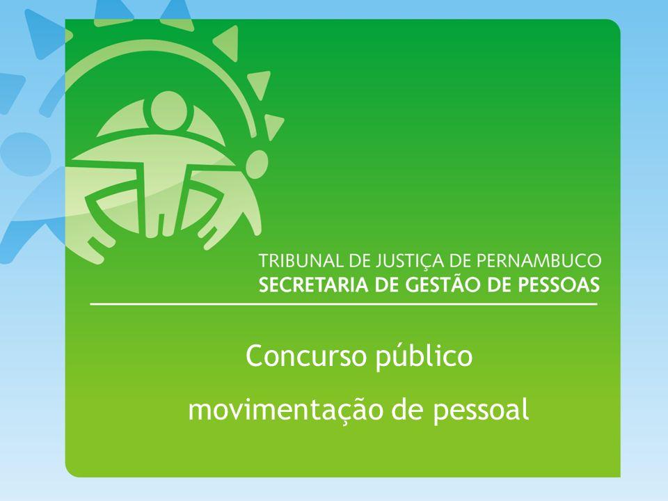 Concurso público movimentação de pessoal
