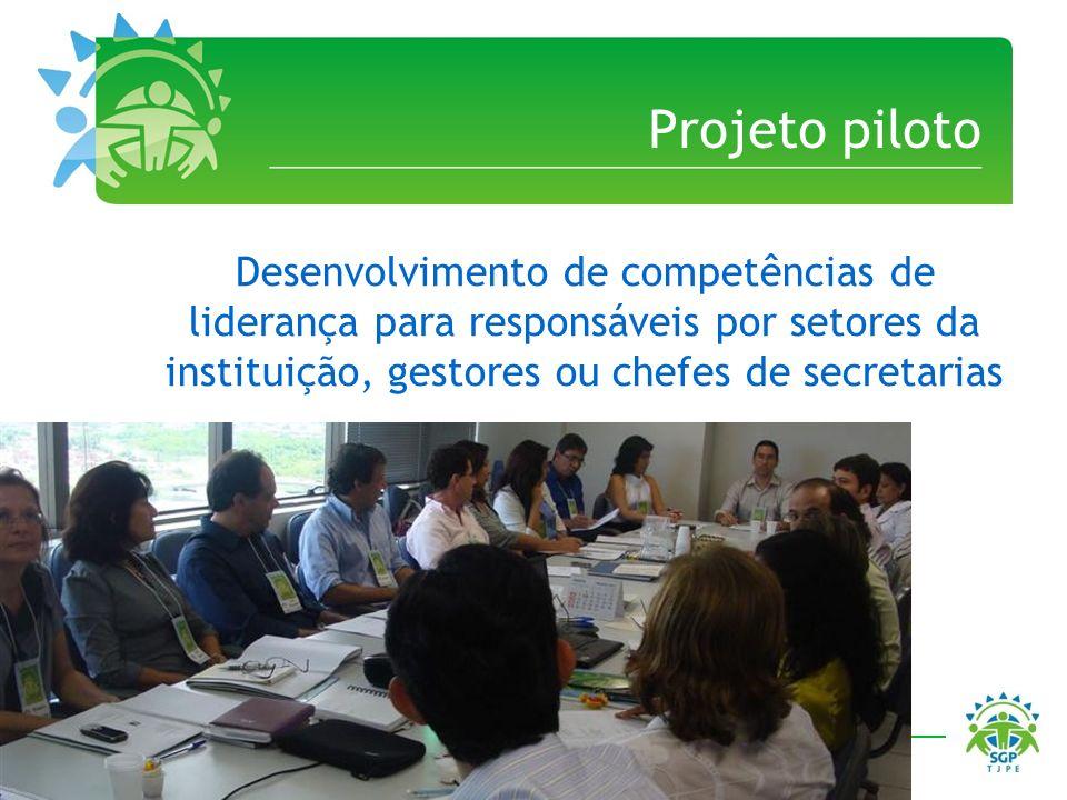 Projeto piloto Desenvolvimento de competências de liderança para responsáveis por setores da instituição, gestores ou chefes de secretarias