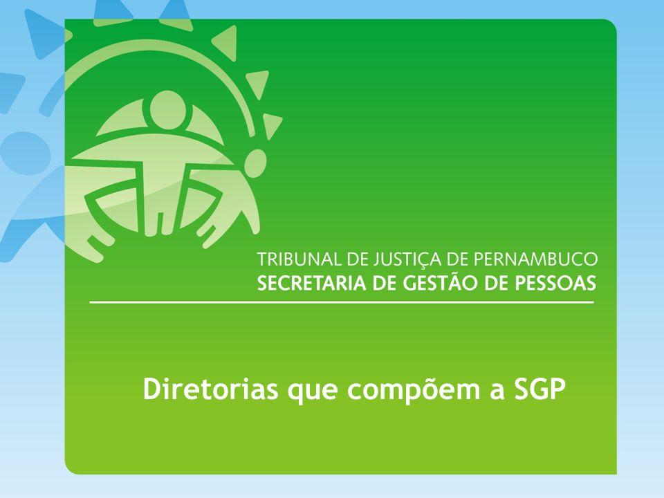 Diretorias que compõem a SGP