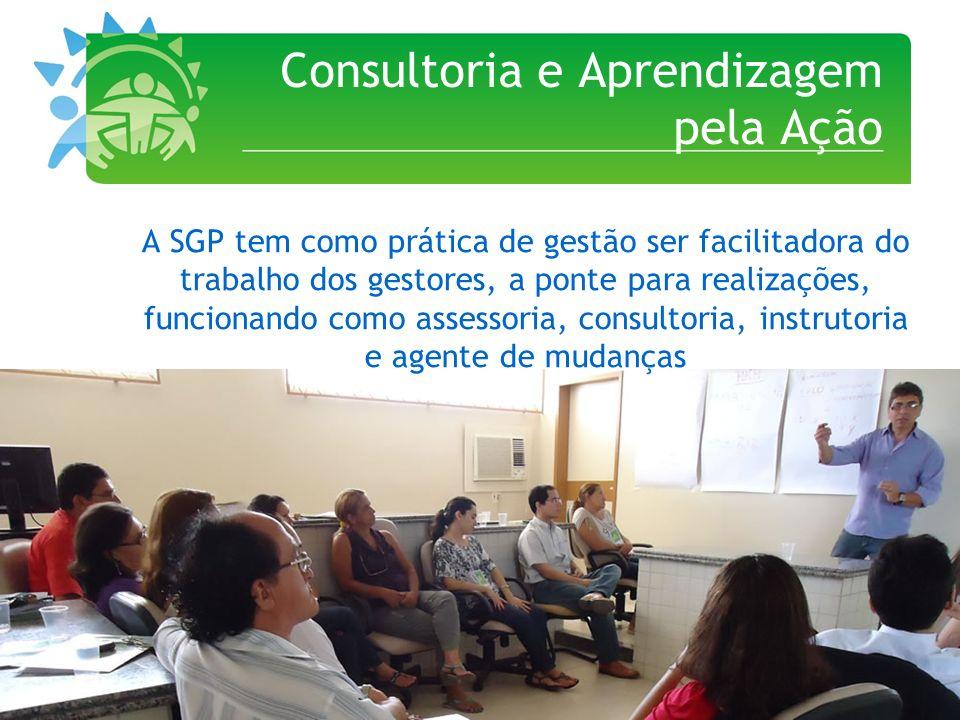 Consultoria e Aprendizagem pela Ação A SGP tem como prática de gestão ser facilitadora do trabalho dos gestores, a ponte para realizações, funcionando