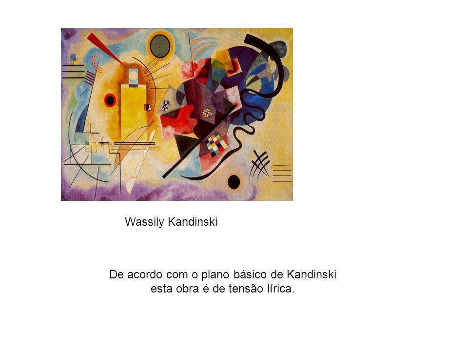De acordo com o plano básico de Kandinski esta obra é de tensão lírica.