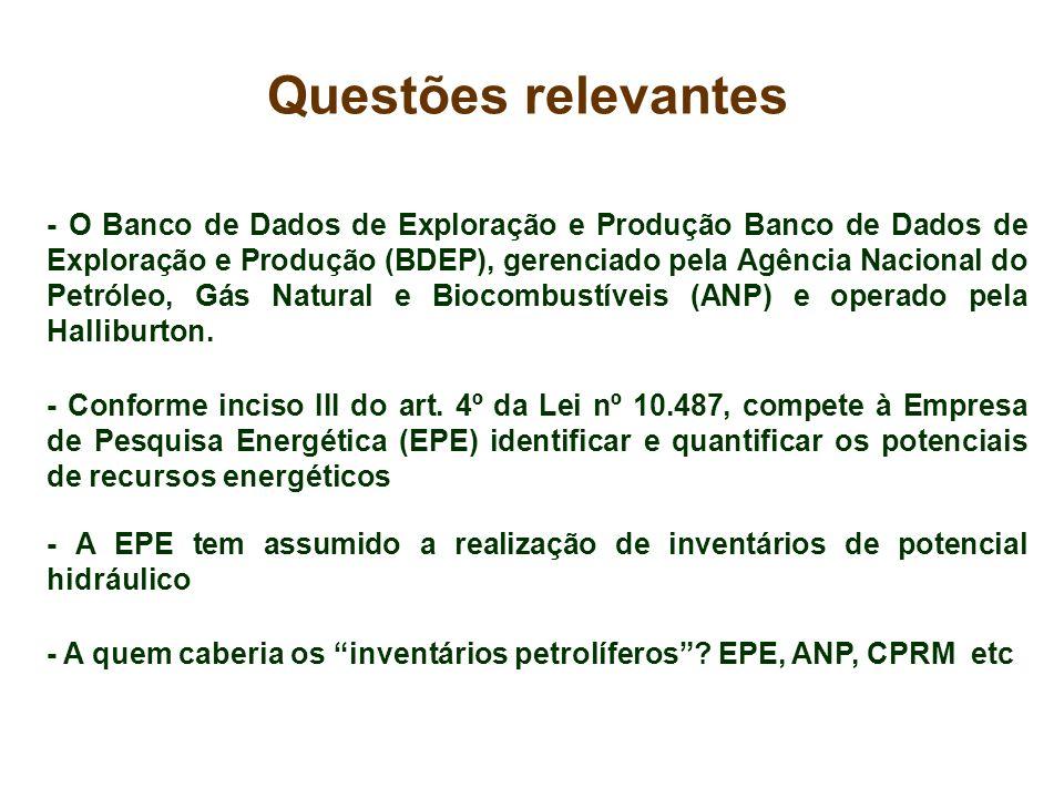 - O Banco de Dados de Exploração e Produção Banco de Dados de Exploração e Produção (BDEP), gerenciado pela Agência Nacional do Petróleo, Gás Natural
