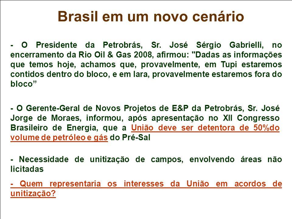 - O Presidente da Petrobrás, Sr. José Sérgio Gabrielli, no encerramento da Rio Oil & Gas 2008, afirmou: