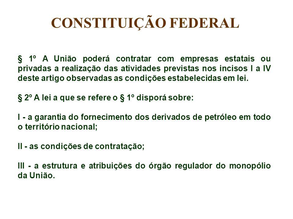 § 1º A União poderá contratar com empresas estatais ou privadas a realização das atividades previstas nos incisos I a IV deste artigo observadas as co