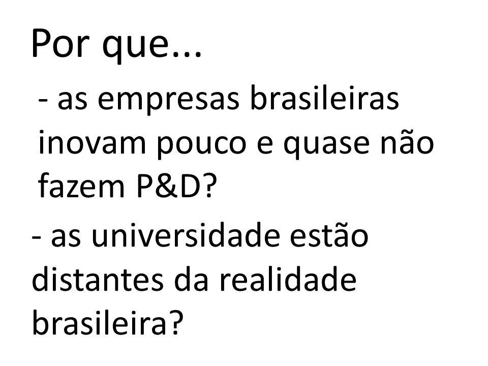 Por que... - as universidade estão distantes da realidade brasileira.