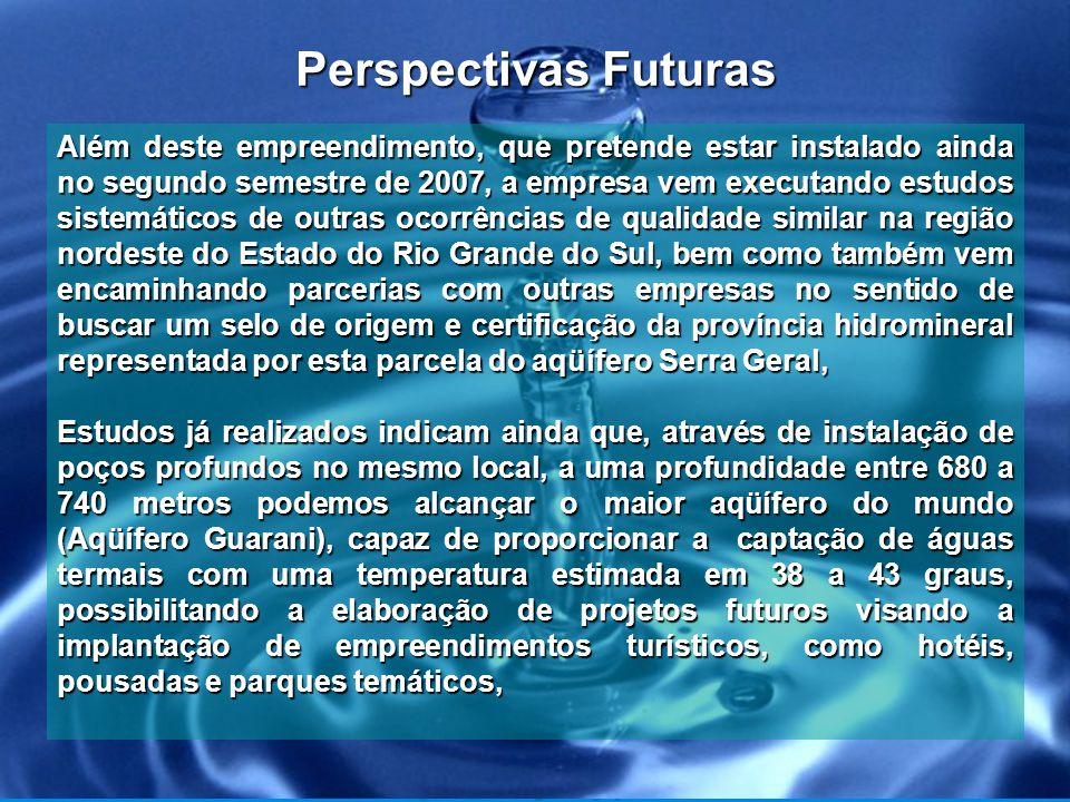 Estudos para Poços de Águas Termais Local do Empreendimento Conforme estudos alcançaremos o Aqüífero Guarani a uma profundidade entre 680 a 740 metros.