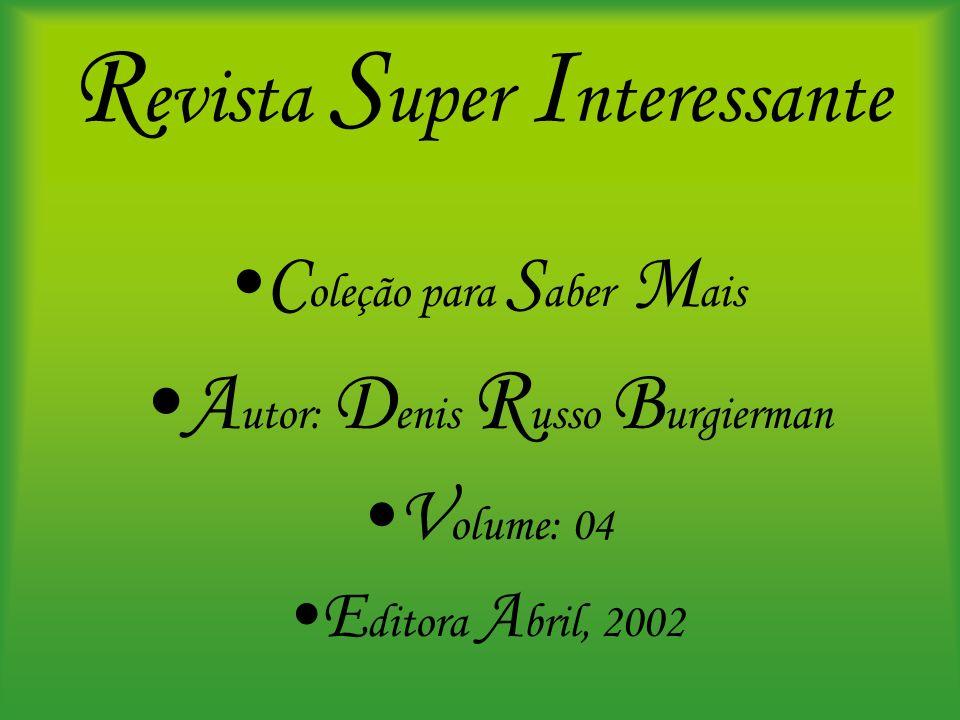 R evista S uper I nteressante C oleção para S aber M ais A utor: D enis R usso B urgierman V olume: 04 E ditora A bril, 2002