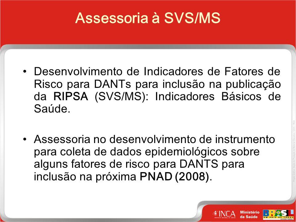 24 Clique para editar o estilo do título mestre Assessoria à SVS/MS Desenvolvimento de Indicadores de Fatores de Risco para DANTs para inclusão na publicação da RIPSA (SVS/MS): Indicadores Básicos de Saúde.