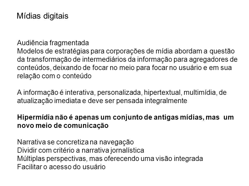 Agregador de conteúdos e serviços Estratégia e gestão da operação digital Produção de conteúdo próprio Solitário Microrede Macrotrede Metarede Nível 4 Nível 3 Nível 2 Nível 1 A pirâmide de posicionamento estratégico Fonte: Deutschland GmbH Diebold in Estratégias para a mídia digital, Beth Saad