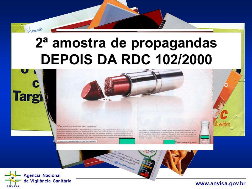 Agência Nacional de Vigilância Sanitária www.anvisa.gov.br Agência Nacional de Vigilância Sanitária www.anvisa.gov.br 2ª amostra de propagandas DEPOIS