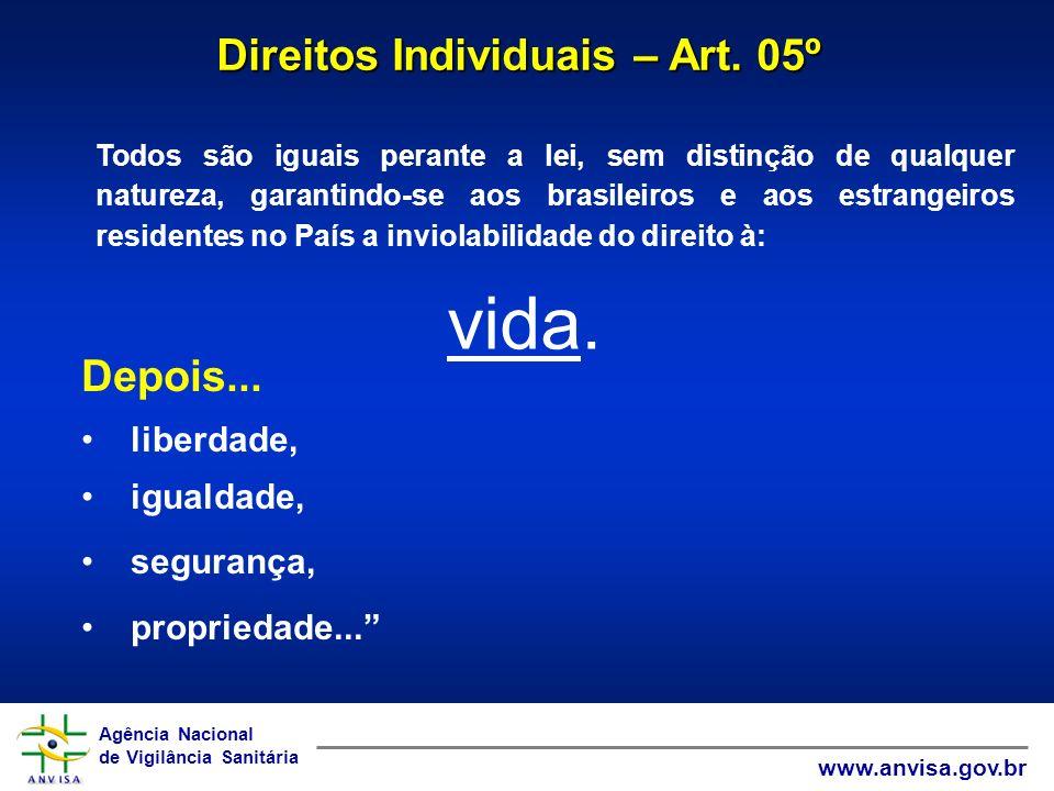 Agência Nacional de Vigilância Sanitária www.anvisa.gov.br Agência Nacional de Vigilância Sanitária www.anvisa.gov.br Todos são iguais perante a lei,