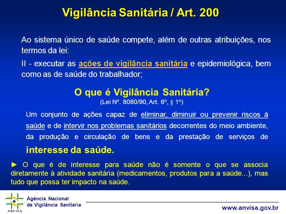 Agência Nacional de Vigilância Sanitária www.anvisa.gov.br Agência Nacional de Vigilância Sanitária www.anvisa.gov.br Ao sistema único de saúde compet