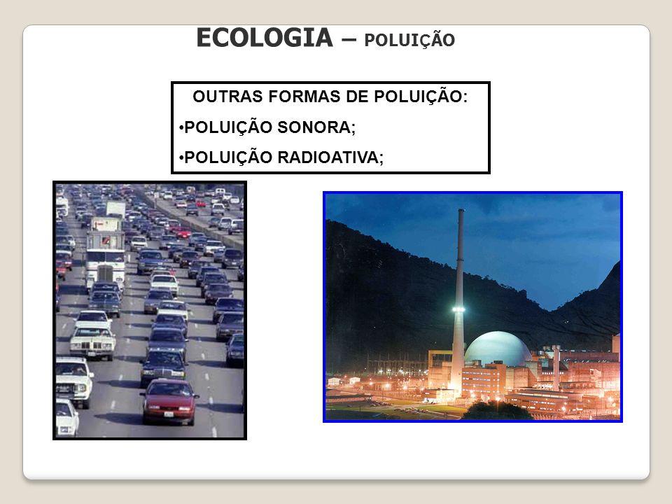 ECOLOGIA – POLUI Ç ÃO OUTRAS FORMAS DE POLUIÇÃO: POLUIÇÃO SONORA; POLUIÇÃO RADIOATIVA;