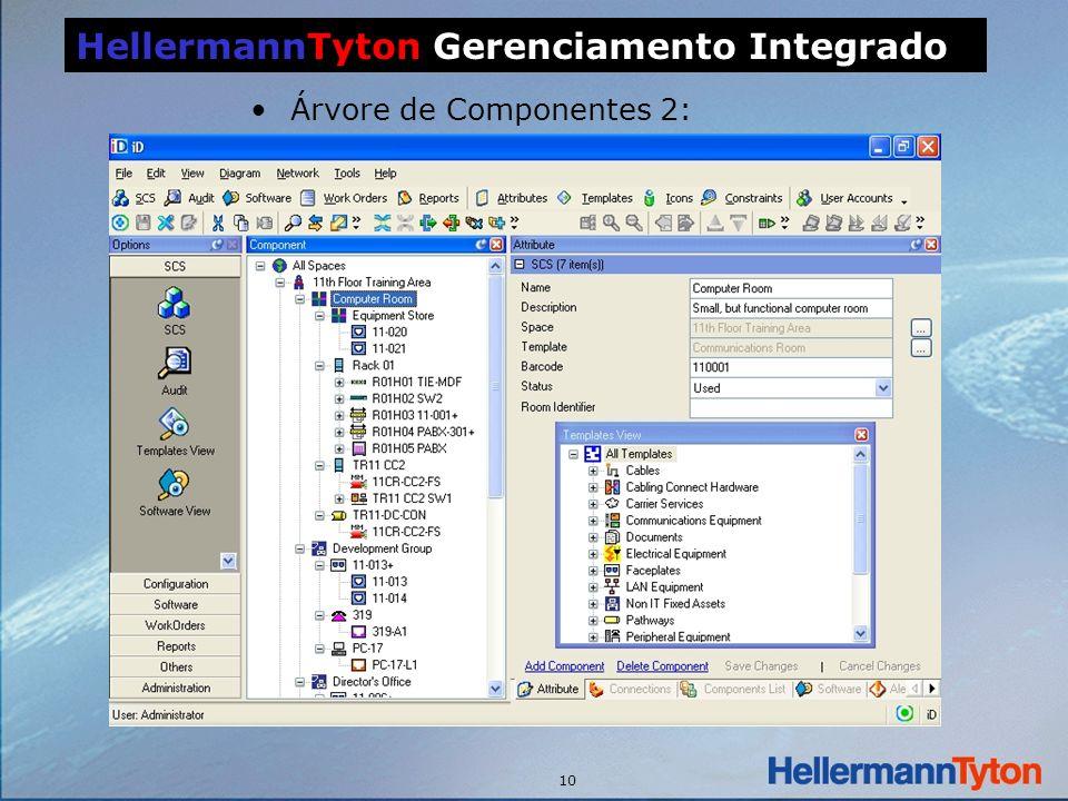 10 Árvore de Componentes 2: HellermannTyton Gerenciamento Integrado