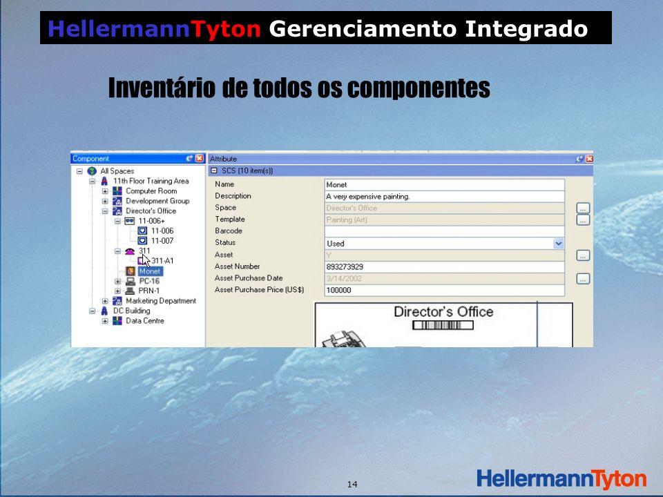 14 HellermannTyton Gerenciamento Integrado Inventário de todos os componentes