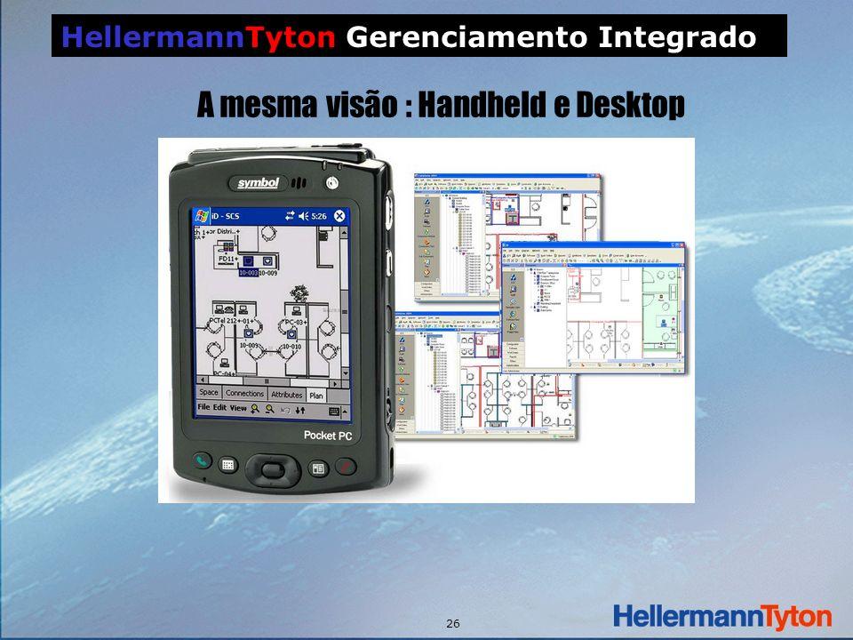 26 HellermannTyton Gerenciamento Integrado A mesma visão : Handheld e Desktop