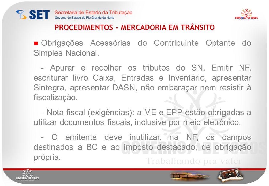 Obrigações Acessórias do Contribuinte Optante do Simples Nacional.