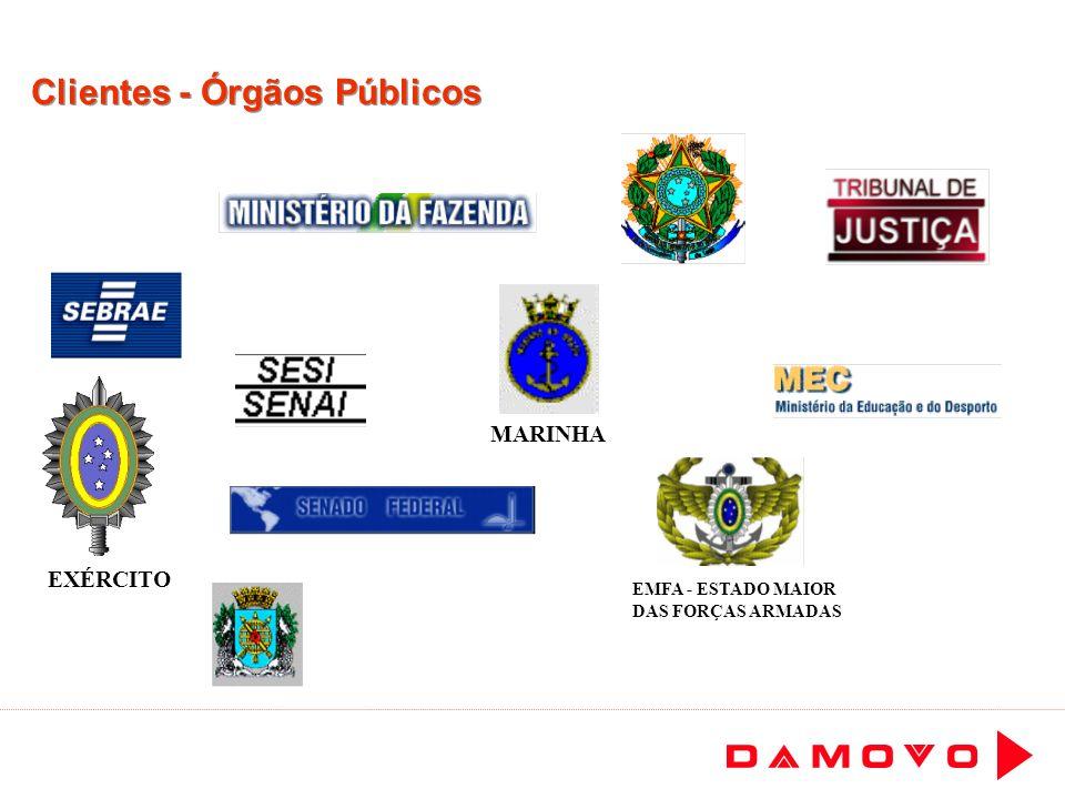 Clientes - Órgãos Públicos MARINHA EXÉRCITO EMFA - ESTADO MAIOR DAS FORÇAS ARMADAS