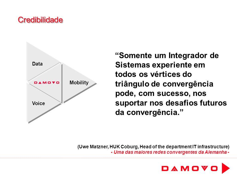 CredibilidadeCredibilidade Somente um Integrador de Sistemas experiente em todos os vértices do triângulo de convergência pode, com sucesso, nos supor