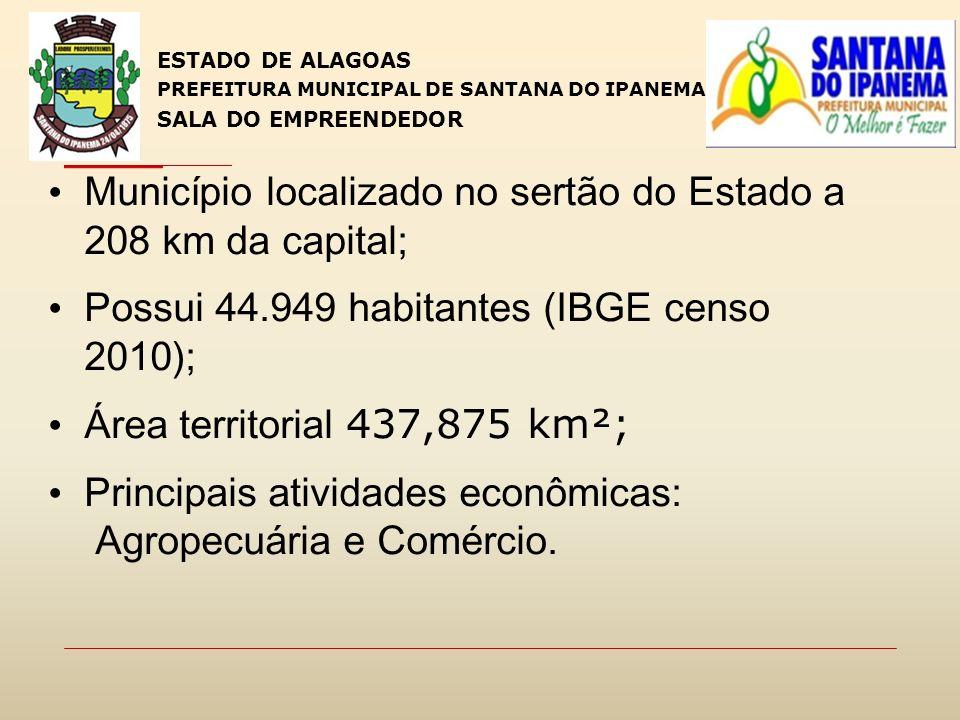 Município localizado no sertão do Estado a 208 km da capital; Possui 44.949 habitantes (IBGE censo 2010); Área territorial 437,875 km²; Principais ati