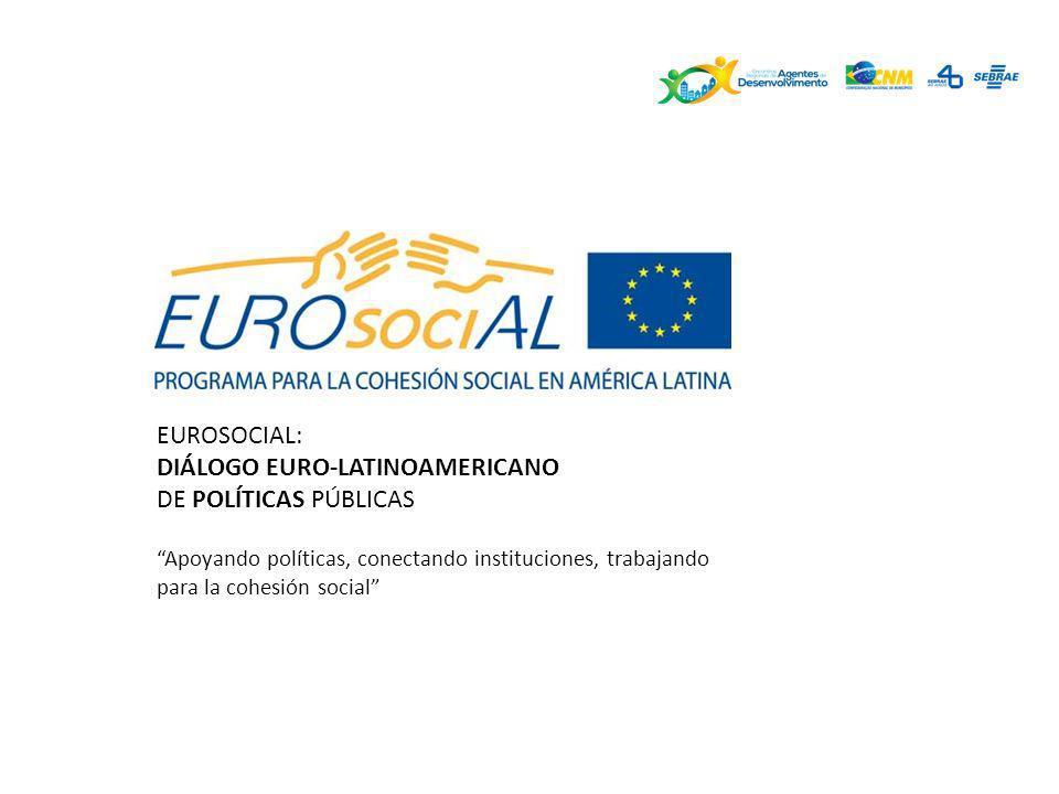 EUROSOCIAL: DIÁLOGO EURO-LATINOAMERICANO DE POLÍTICAS PÚBLICAS Apoyando políticas, conectando instituciones, trabajando para la cohesión social