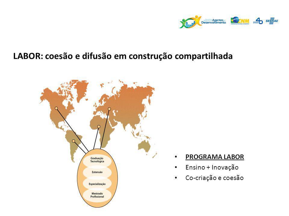 LABOR: coesão e difusão em construção compartilhada PROGRAMA LABOR Ensino + Inovação Co-criação e coesão