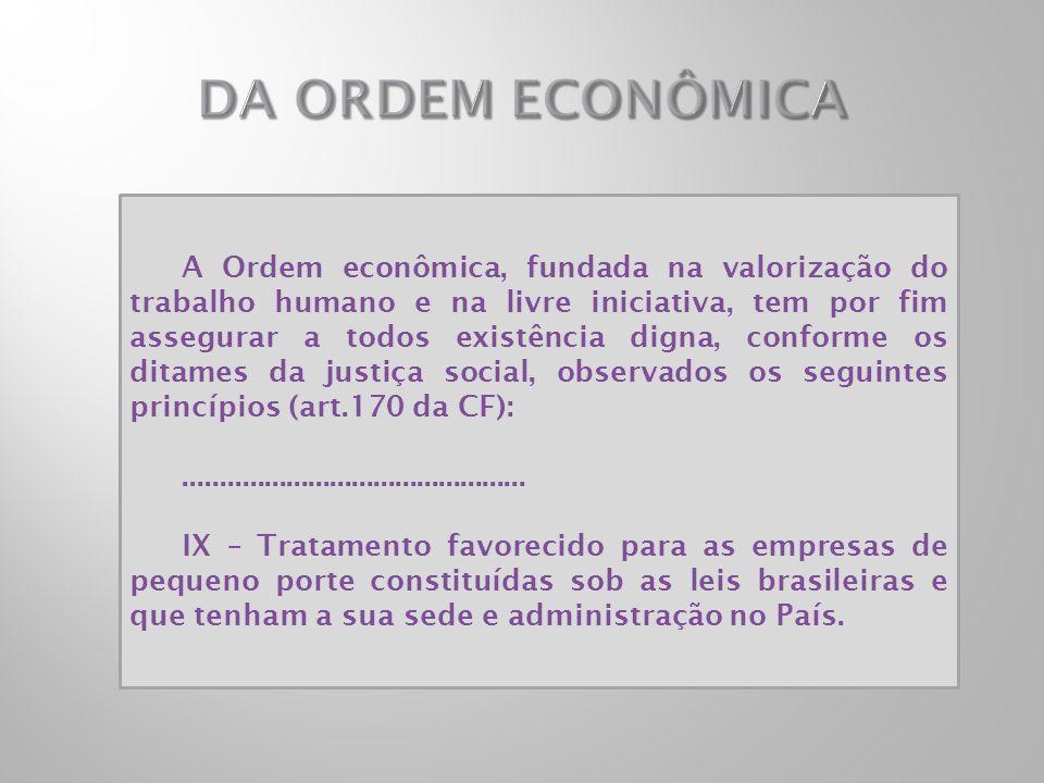 A Ordem econômica, fundada na valorização do trabalho humano e na livre iniciativa, tem por fim assegurar a todos existência digna, conforme os ditame