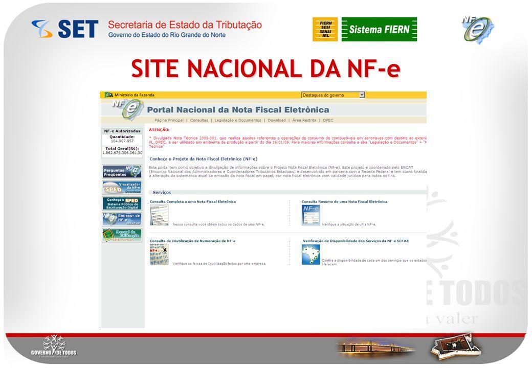 SITE NACIONAL DA NF-e