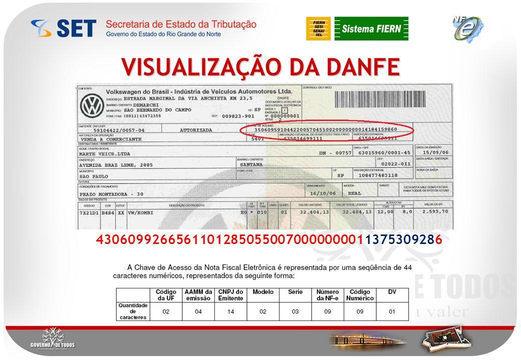 VISUALIZAÇÃO DA DANFE 43060992665611012850550070000000011375309286