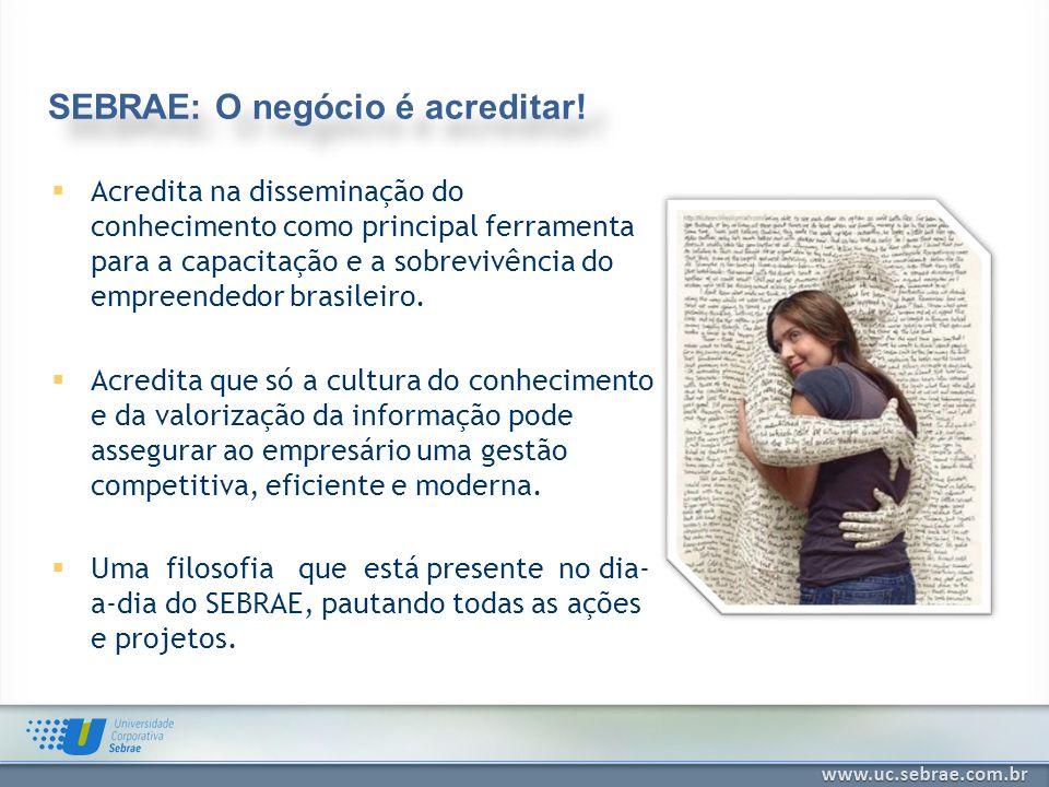 Acredita na disseminação do conhecimento como principal ferramenta para a capacitação e a sobrevivência do empreendedor brasileiro. Acredita que só a