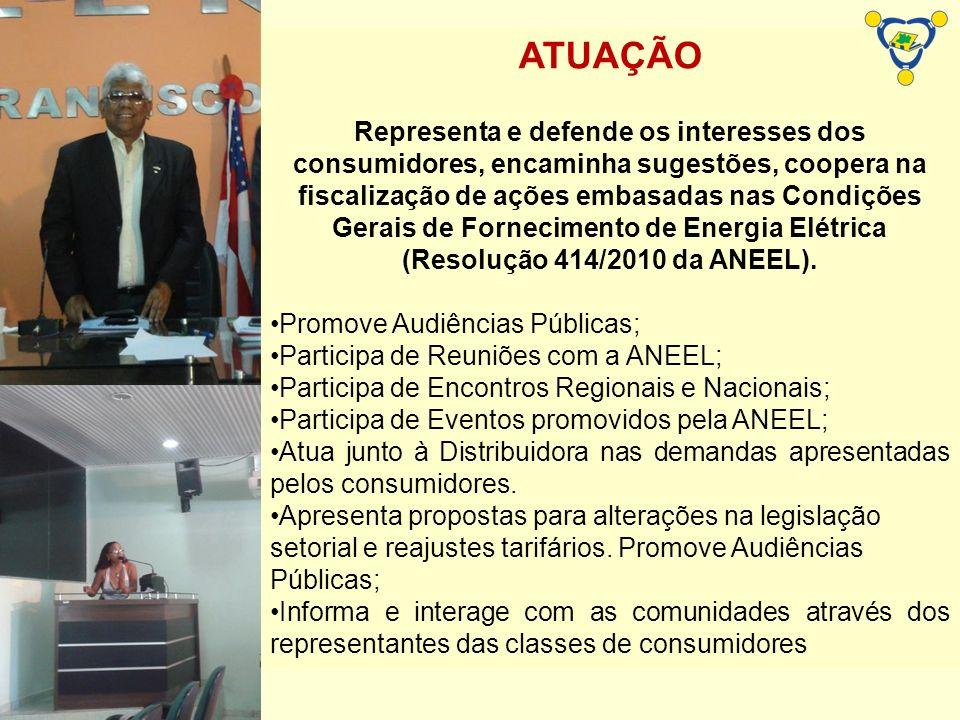 ATUAÇÃO Representa e defende os interesses dos consumidores, encaminha sugestões, coopera na fiscalização de ações embasadas nas Condições Gerais de F